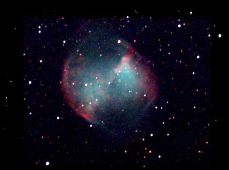 This is a 35 minute exposure photograph using a CCD camera behind a 15 cm telescope. picture by Chamois.