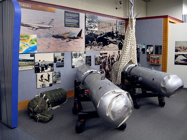 The four H bombs from the Palomares nuclear incident were found. Here, the two H bombs retrieved at Palomares and from the Mediterranean (after an 80-day search). © Marcin Wichary CC by 2.0