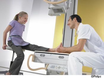 Radiography involves the use of X rays. © Philips