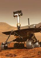 The Spirit Rover on Martian soil
