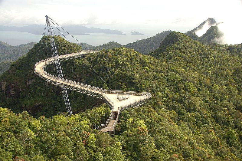 The canopy of the Malaysian jungle can be viewed from the Langkawi Sky Bridge. © The Dilly Lama CC by