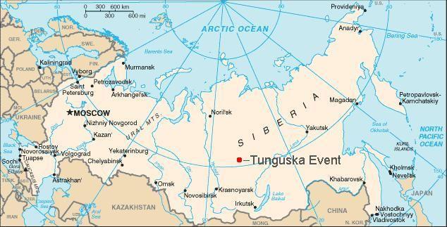 Location of Tunguska.