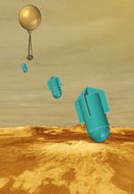 Artist's impression of the VEP balloon releasing its microprobes