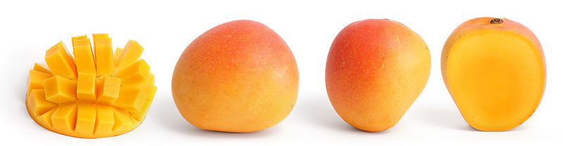 The mango is an exotic fruit produced in very large quantities. © Wikimedia Commons