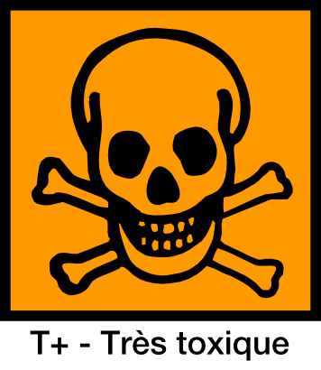 The presence of this symbol on a substance means that it contains toxic substances or even very toxic substances (T+). © Yves Guillo, public domain