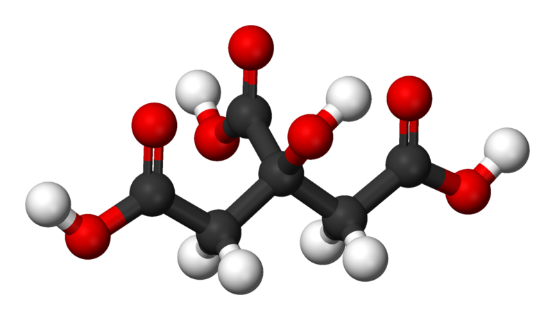 Citrate is very widely used in the farming and foods industry. © Benjah-bmm27, Wikimedia, public domain
