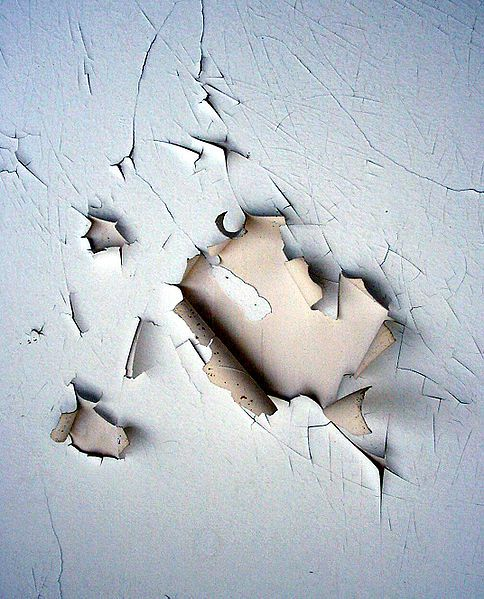 One of the possible causes of poisoning is lead-based paint.  © Lamiot, Wikimedia, GFDL 1.2