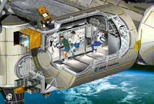 Artist's view of the European Columbus laboratory