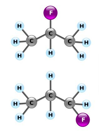 Isomers are molecules with the same basic chemical formula but their groups are not all arranged in the same way. © DR