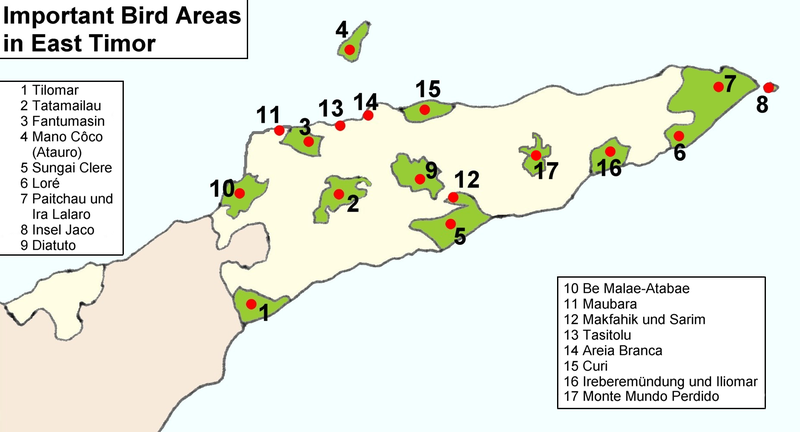 Important Bird Areas in East Timor. © J. Patrick Fischer, Wikimédia CC by-sa 3.0