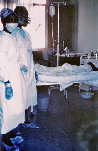 Ebola haemorrhagic fever, a disease caused by the Ebolavirus, is often fatal. © DR