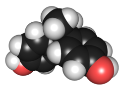 Chemical structure of bisphenol A. © Edgar181 / Wikimedia Commons (public domain)
