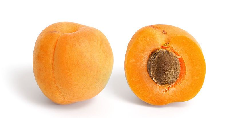 Apricots are summer fruit, perfect for a healthy diet. © Wikimedia Commons