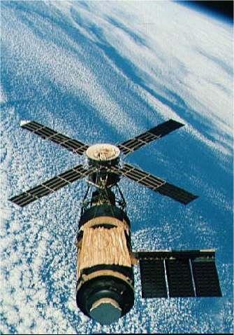 Skylab in Earth orbit. Credit NASA