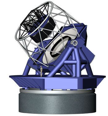 Artist's impression of the Large Synoptic Survey Telescope (Credits: 2004 LSST Corporation)