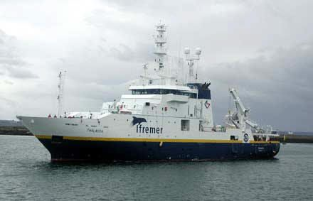 IFREMER's ship, Thalassa.