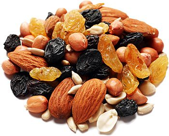 Dried fruits, sources of vitamin E. DR Credits.
