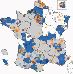The local Agenda 21 in France in 2010. © agenda21france.org