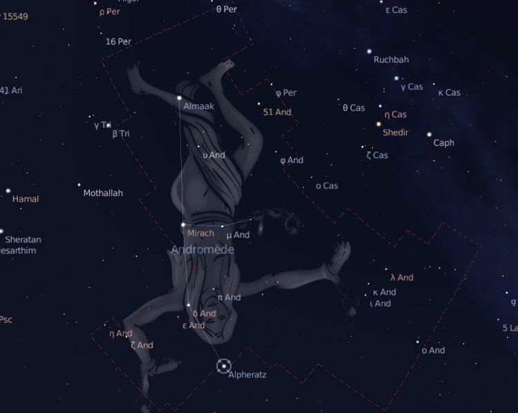 Andromeda constellation Credits DR