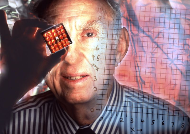 The Nobel physics prize winner Martin Perl, discoverer of the tauon, heavier relation of the electron. © Peter Ginter
