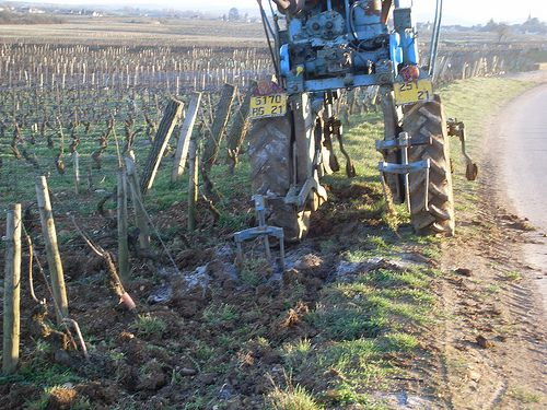 Scraping soil for a wine growing operation. © K-Vins.com CC by 2.0