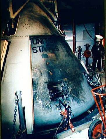 Appearance of Apollo 1 after the fire