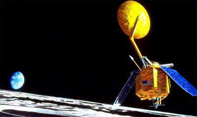 The Lunar Reconnaissance Orbiter (LRO) exploring the Moon (artist's impression). Credit: NASA