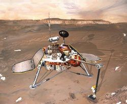 Picture of the Mars Polar Lander probe