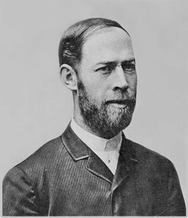 The hertz unit is named after the German Heinrich Hertz. © Public domain