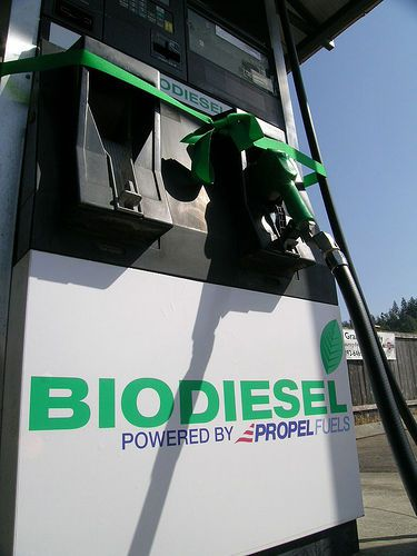 This biodiesel pump distributes an alternative, FAME-based fuel. © rrelam CC by-nc 2.0