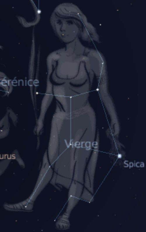 Spica in the constellation of Virgo