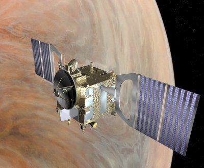 Artist's impression of the Venus Express probe