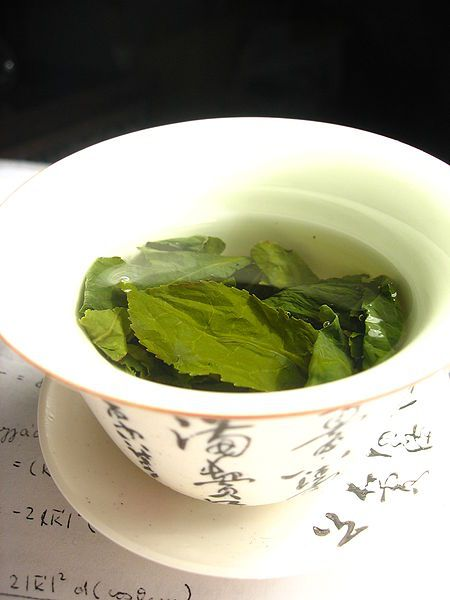 Large amounts of polyphenols are contained in green tea. © Wikimol - Licence Creative Commons