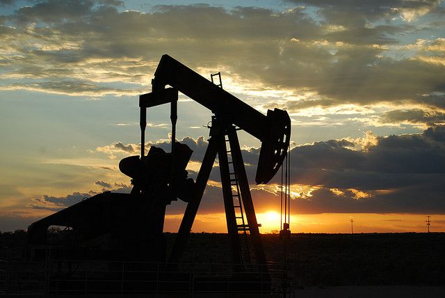 Crude oil is the result of a very long process during which organic matter is transformed into hydrocarbons. &copy Paul Lowry, Flickr, cc by 2.0