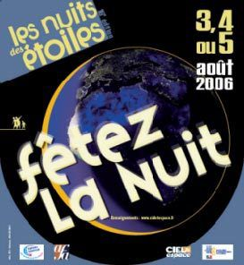 """The 2006 """"Nuits des étoiles"""" poster: celebrate the night"""