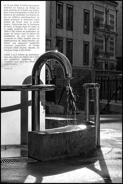 Artesian well at the Butte aux Cailles in Paris. © Hugues Mitton CC by-sa 2.5