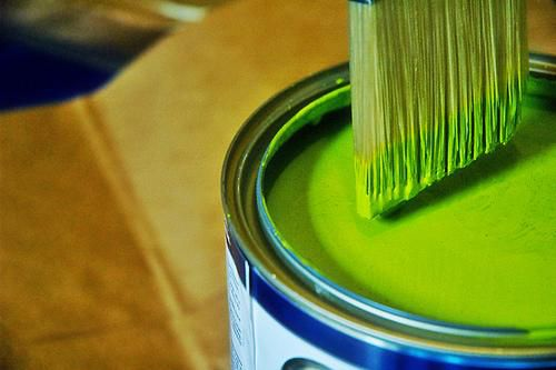 Greenwashing, or the art of painting something that is not environmentally friendly green. © Jennifer L. CC by-nc-nd 2.0