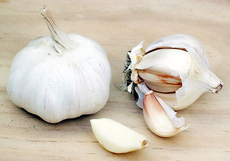Garlic is a condiment used all over the world. © Wikimedia Commons