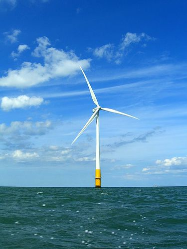 Off-shore wind turbine. © phault CC-by