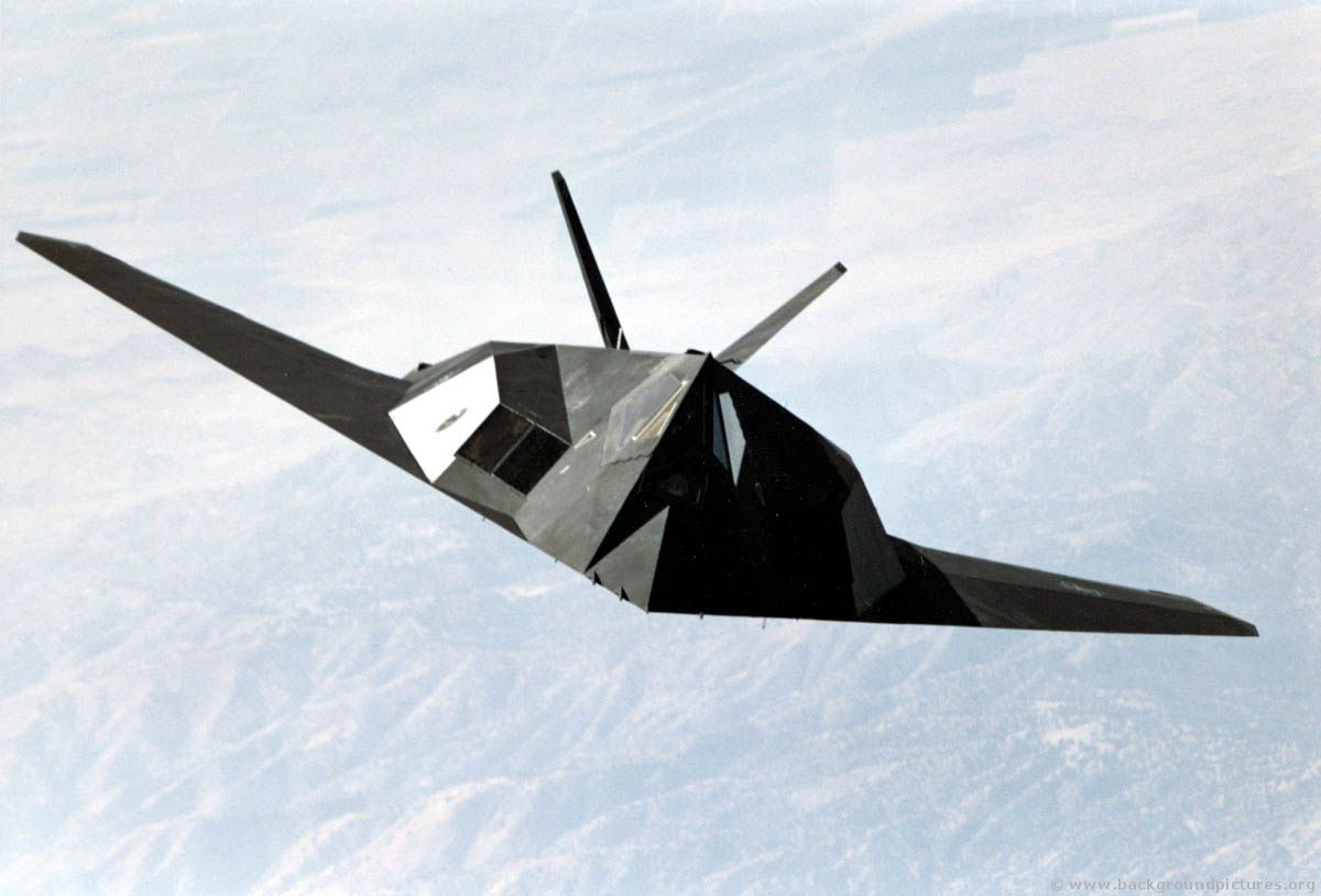 The F-117A Nighthawk in the air. © DR