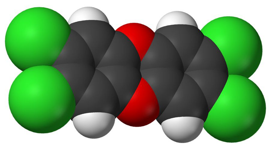 TCDD is the most dangerous dioxin. © Benjah-bmm27, Wikimedia, public domain