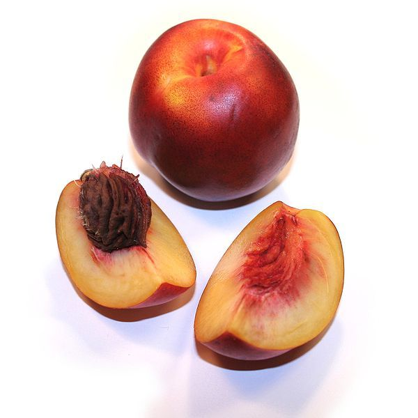 Nectarines are a variety of peach and can be eaten all summer long. © Wikimedia Common