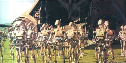 Droids fighting in the Star Wars saga. © Lucasfilm