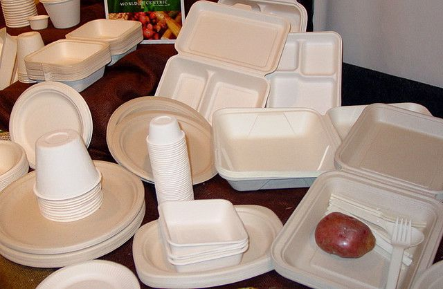Biodegradable disposable tableware.  © Luxomedia CC by-nc-sa 2.0