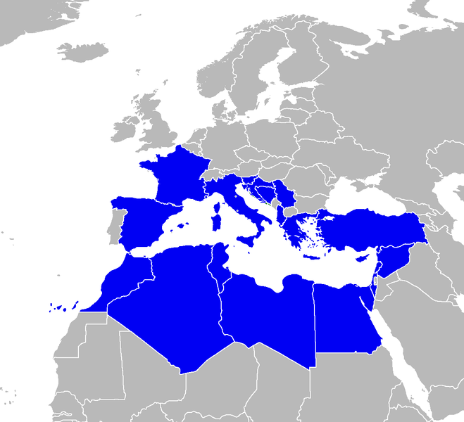 Member countries of the Barcelona Convention. © Padraic Ryan, Wikimedia CC -by-sa 3.0