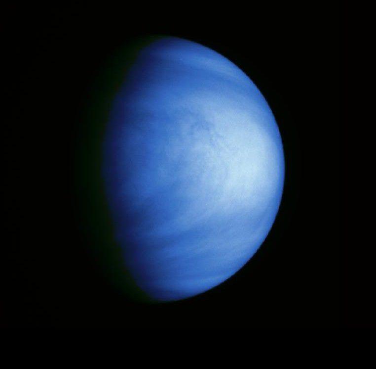 Venus seen by the European probe Galileo in 1990.