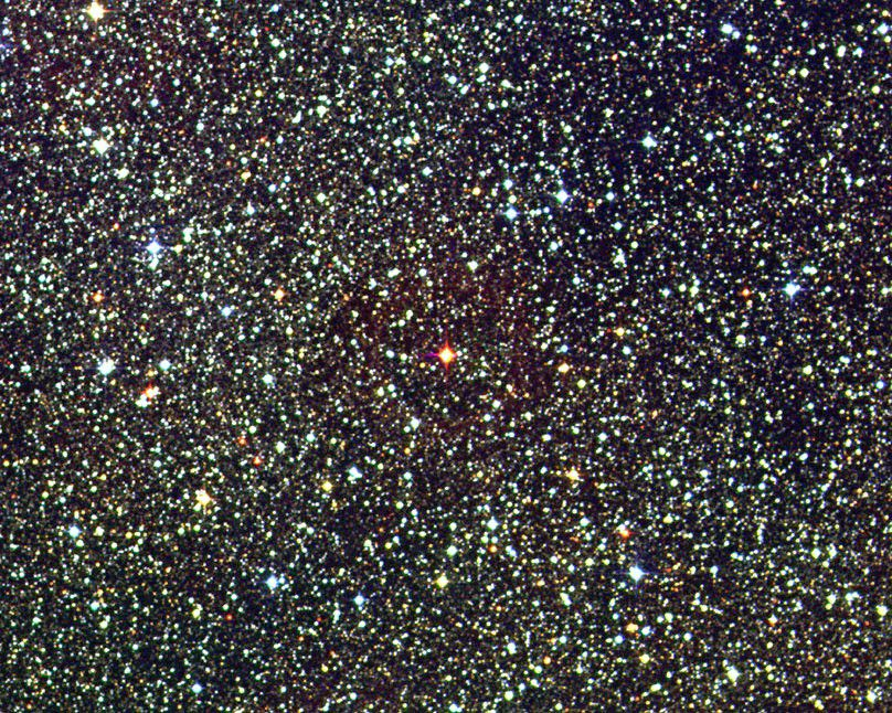 Proxima Centauri is the modest red star in the centre of this photo. Credit David Malin / UK Schmidt Telescope / DSS / AAO