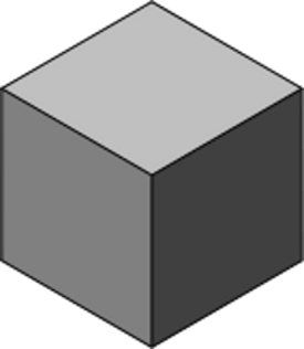 An isometric projection of a cube. © Christophe Dang Ngoc Chan, Wikipedia DP