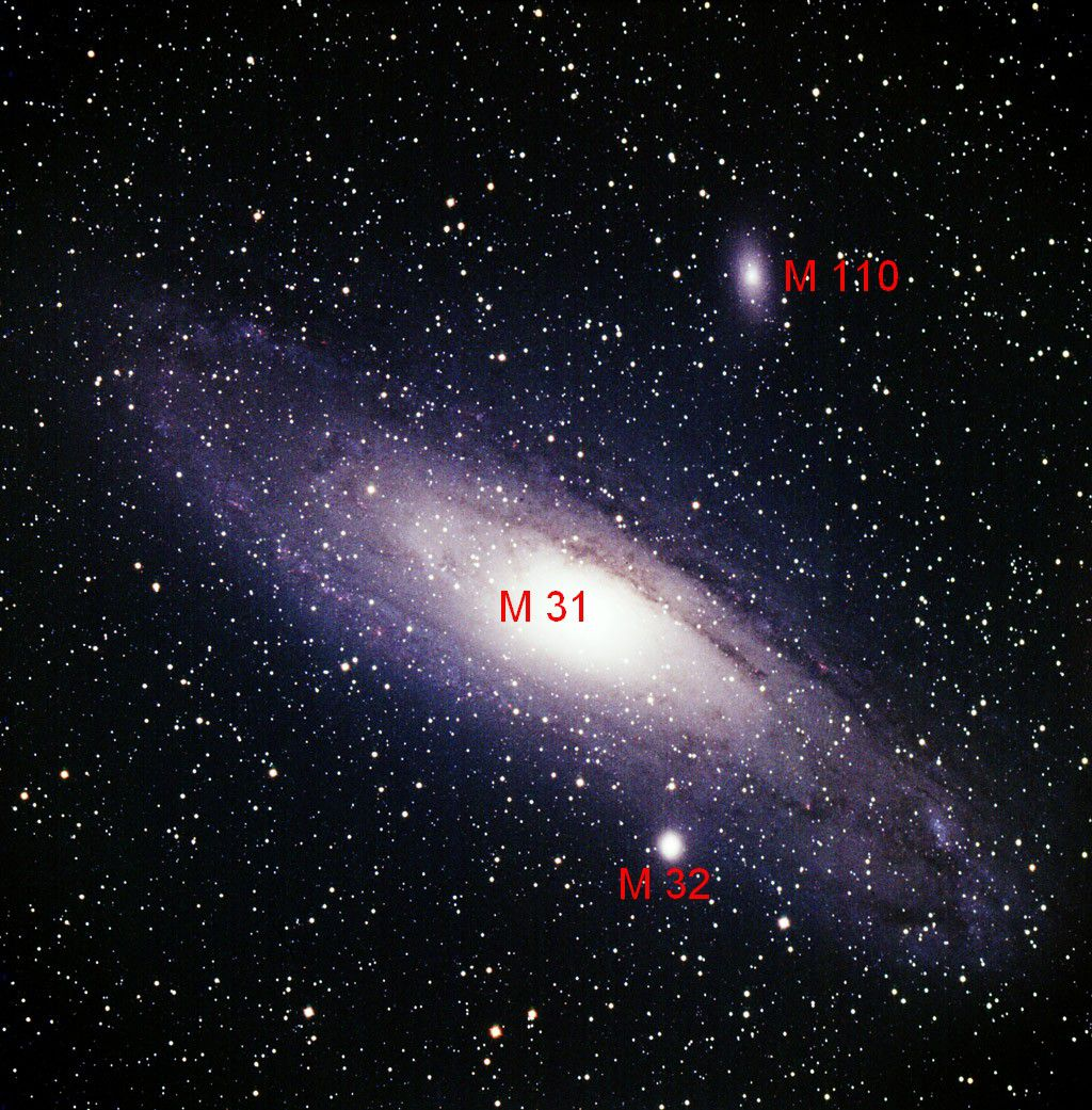 With M110, M32 is the great Andromeda galaxy's (M31), second satellite galaxy. Credit L. Hermansson and J. Warell