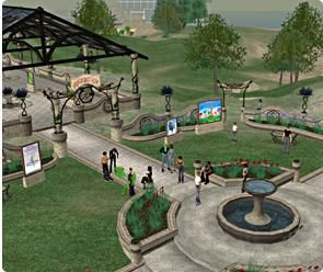 Screen shot of Second Life.